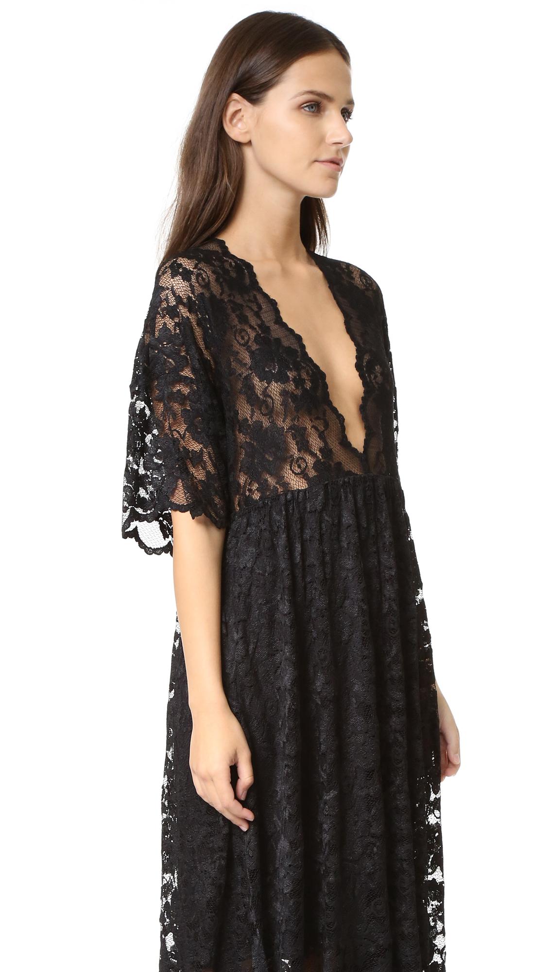 05667f02 GANNI Ayame Lace Deep V Dress | SHOPBOP