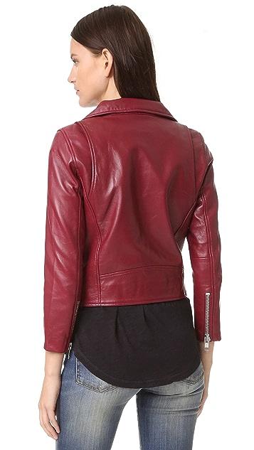 Ganni Leather Biker Jacket