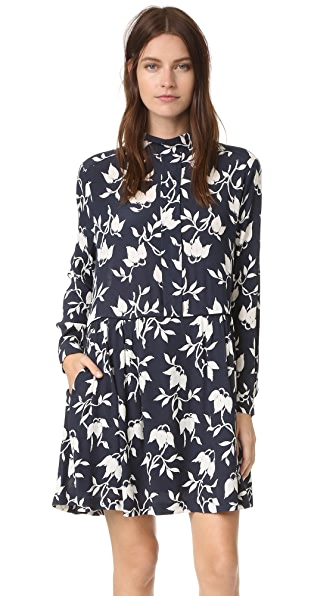 Ganni Maxwell Dress - Vanilla Ice Bell Flower