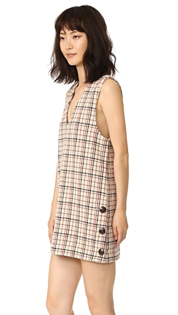 Ganni Duncan Check Dress