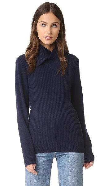 Ganni Mercer Collar Sweater - Total Eclipse