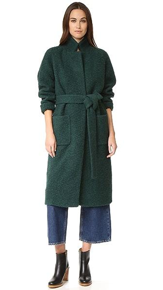 Ganni Fenn Wrap Coat - Pine Grove