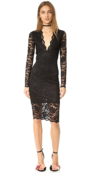 Ganni Flynn Lace Dress - Black