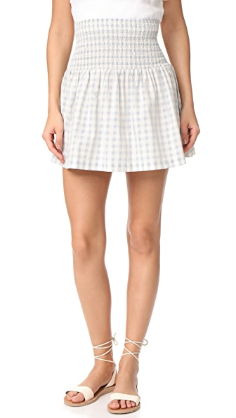 Ganni Palmer Check Skirt