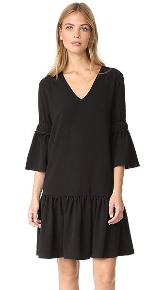 Ganni Clark Dress In Black