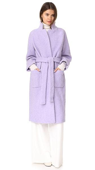 Ganni Fenn Wrap Coat - Pastel Lilac