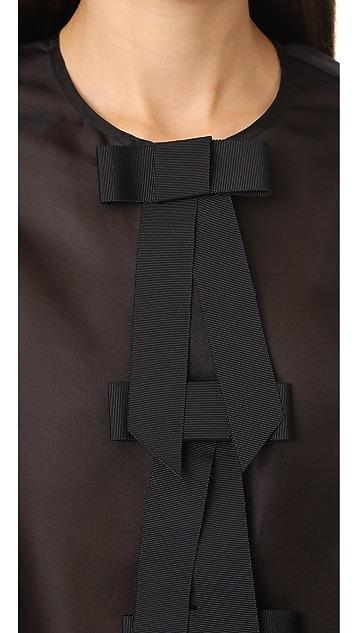 Ganni Seneca Silk Top
