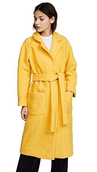 Ganni Fenn Coat In Lemon