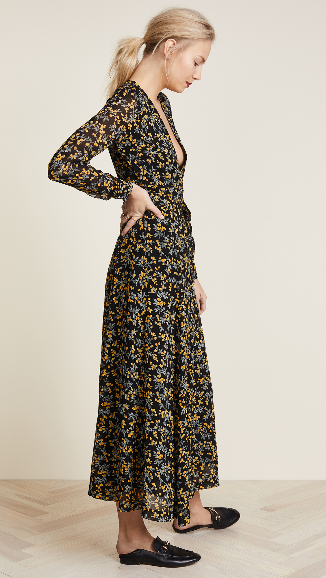 ef13bf91bd90 GANNI Marceau Georgette Wrap Dress | SHOPBOP