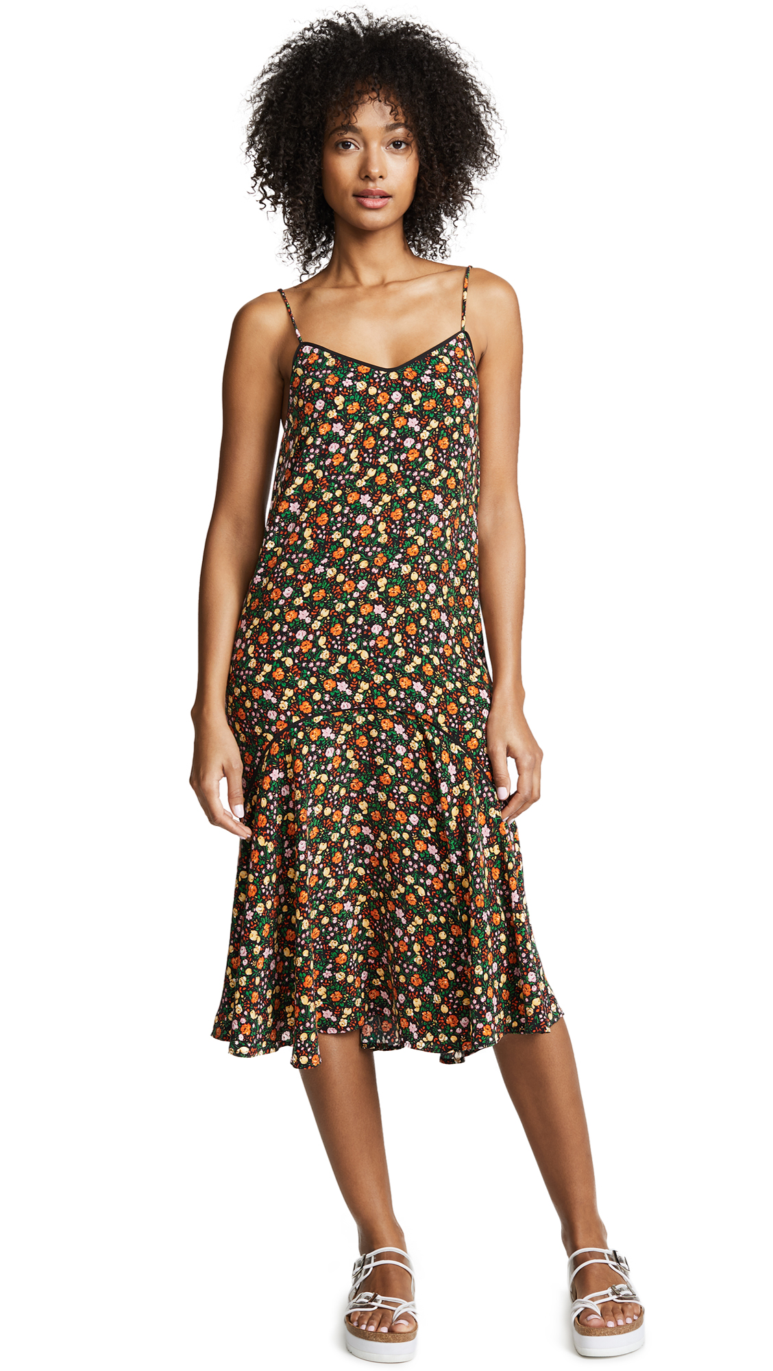 Ganni Joycedale Slip Dress In Multicolor