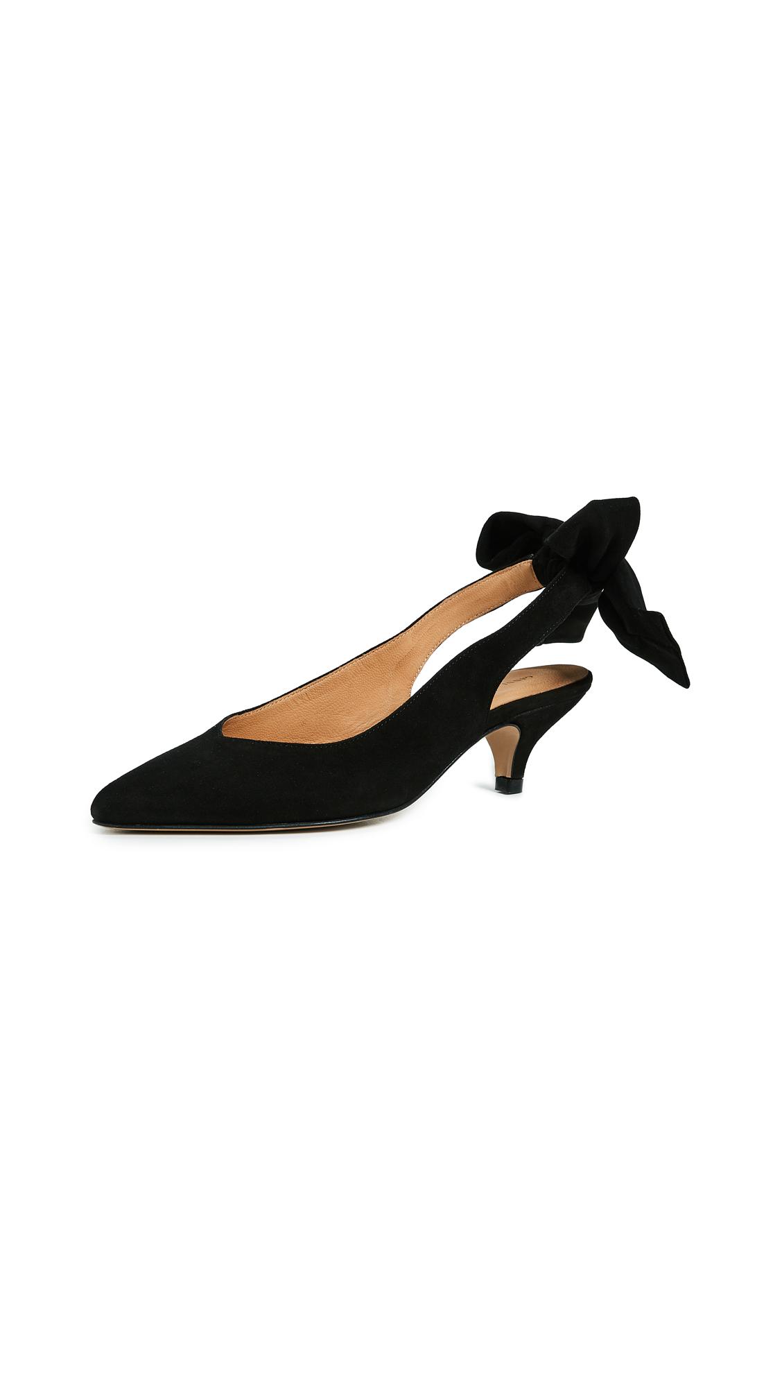 GANNI Bow Kitten Heels - Black