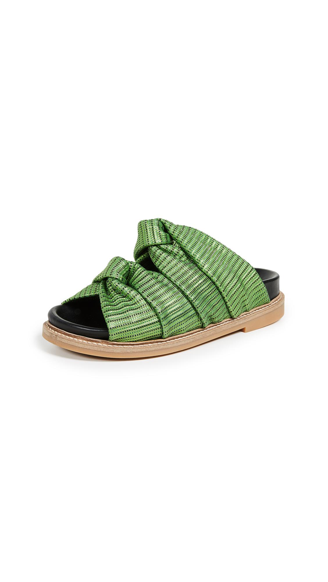 Ganni Anoush Slides - Classic Green