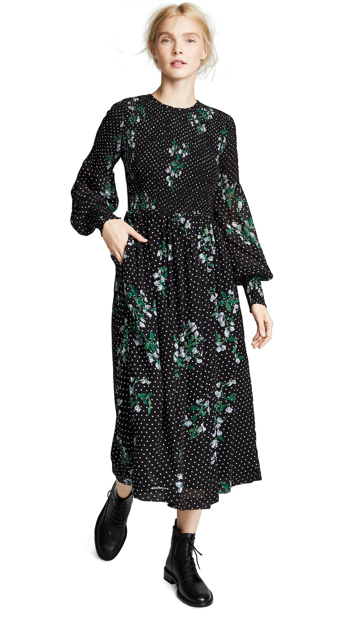 Ganni Rometty Dress In Black