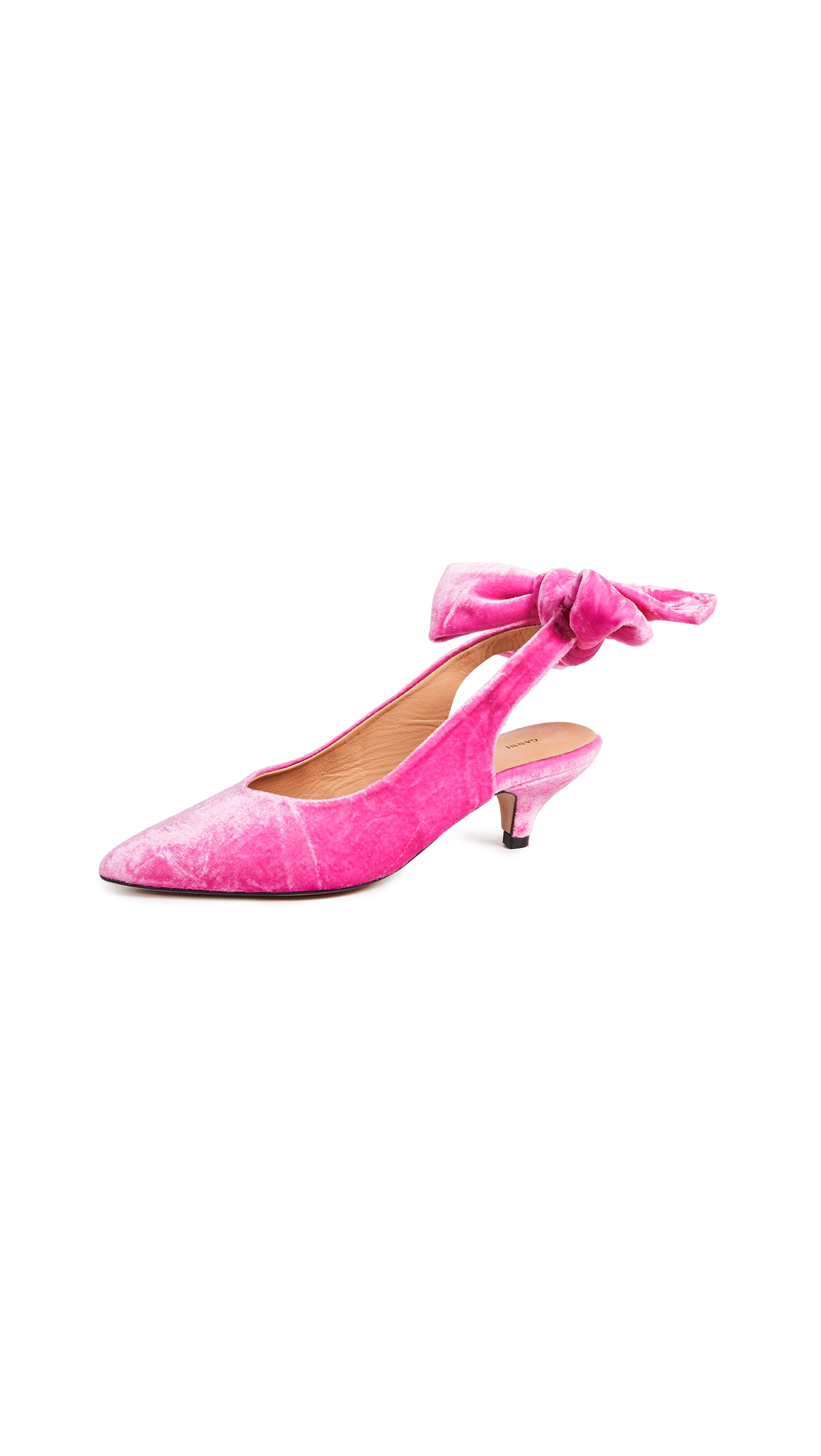 Ganni Sabine Slingback Pumps - Hot Pink