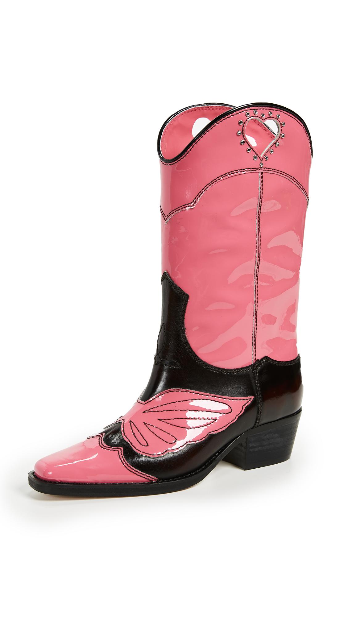 GANNI Marlyn Boots - Hot Pink