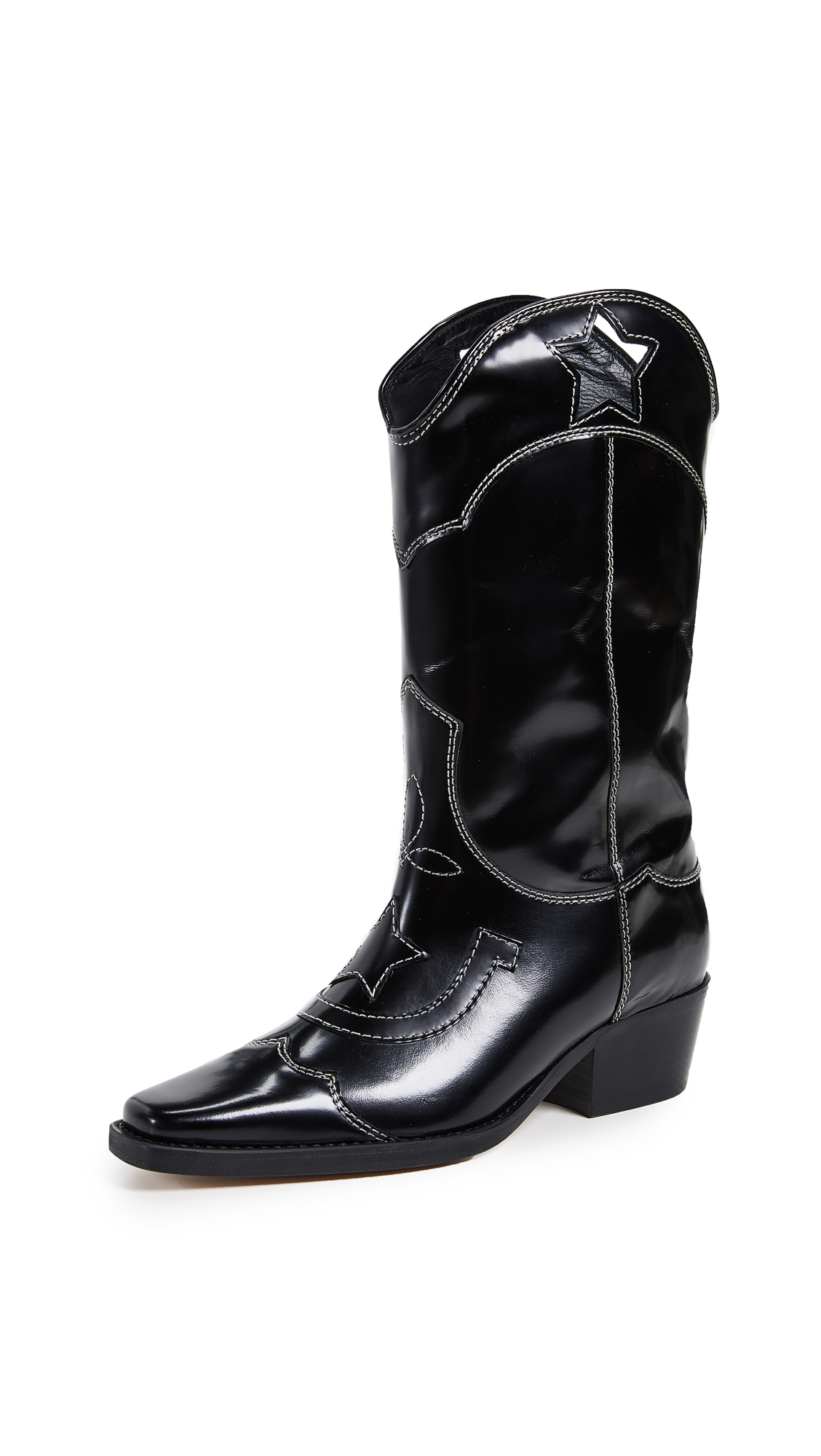 GANNI High Texas Boots - Black