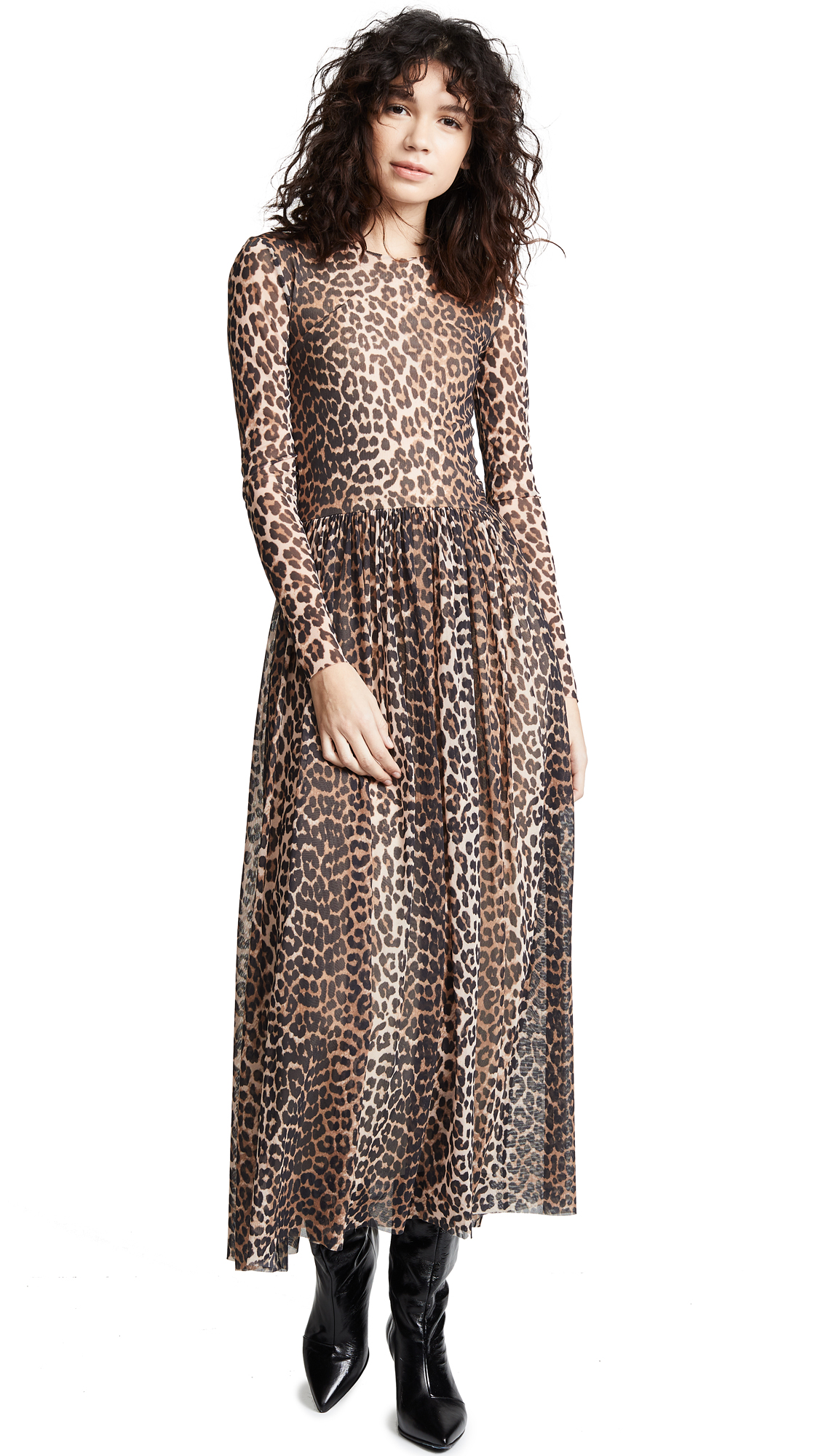 1e249713 GANNI Printed Mesh Dress | SHOPBOP