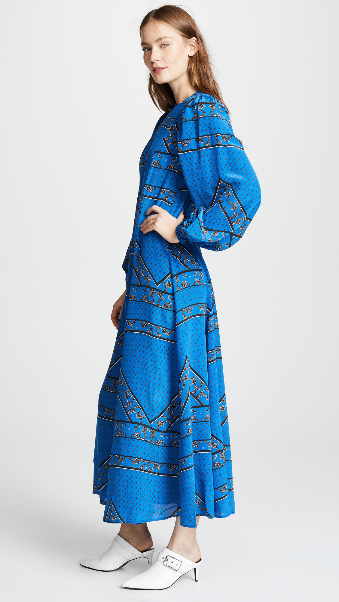 6dfe3f257b52 GANNI Sandwashed Silk Dress