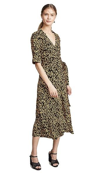 1d975f6b GANNI Printed Crepe Dress   SHOPBOP