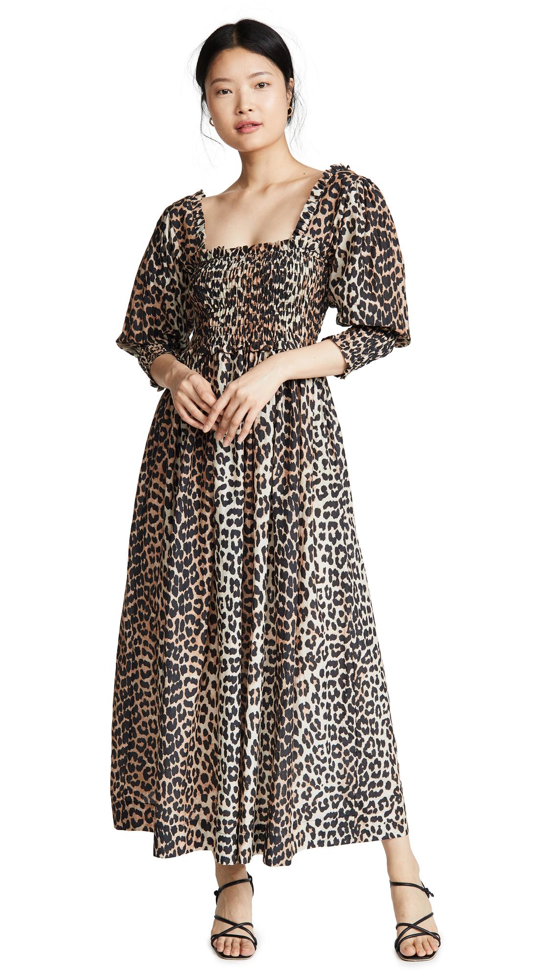 Buy GANNI online - photo of GANNI Cotton Silk Dress
