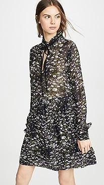 2877930b GANNI. Printed Georgette Dress