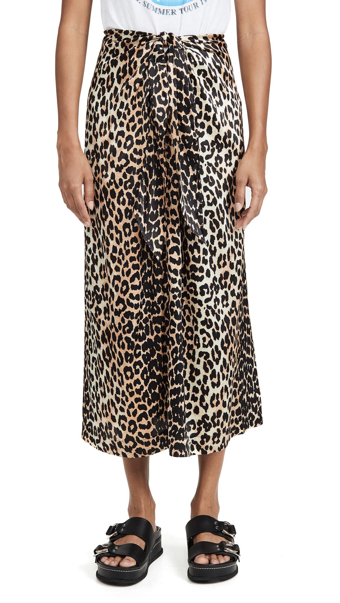 Buy GANNI online - photo of GANNI Stretch Satin Skirt