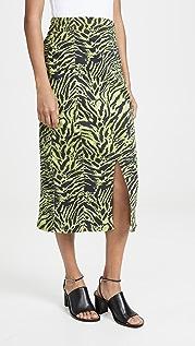 GANNI Мягкая юбка Tiger