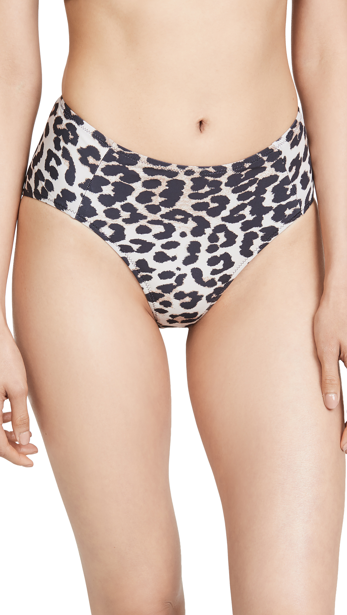 Buy GANNI online - photo of GANNI Leopard High Waist Bottoms