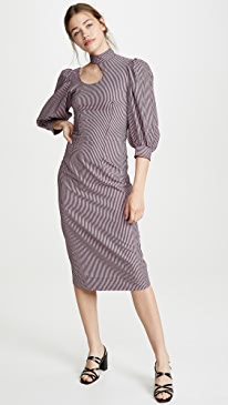 5ae893cf GANNI. Stretchable Seersucker Dress