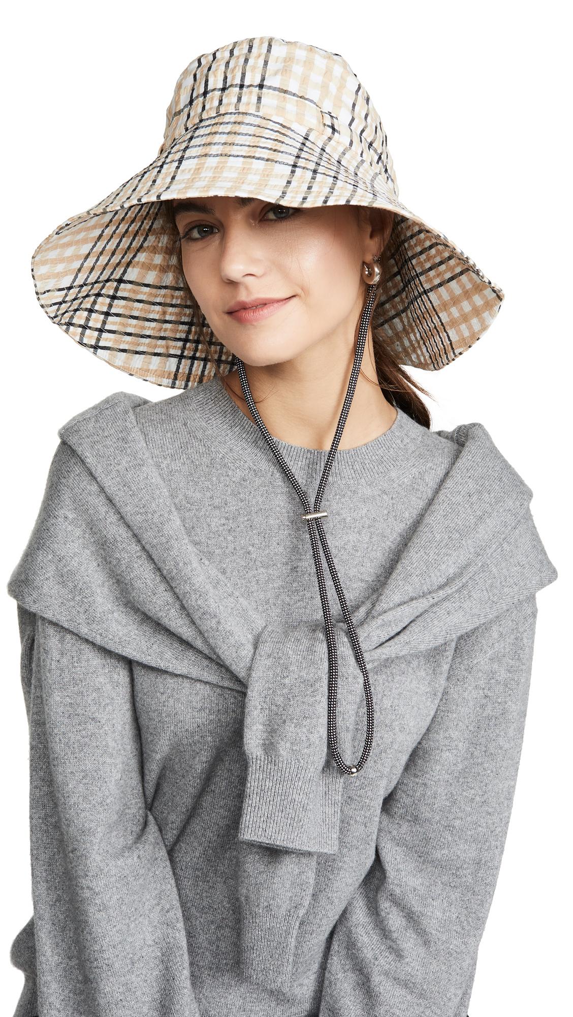 f5ab4d991 GANNI Seersucker Bucket Hat   SHOPBOP