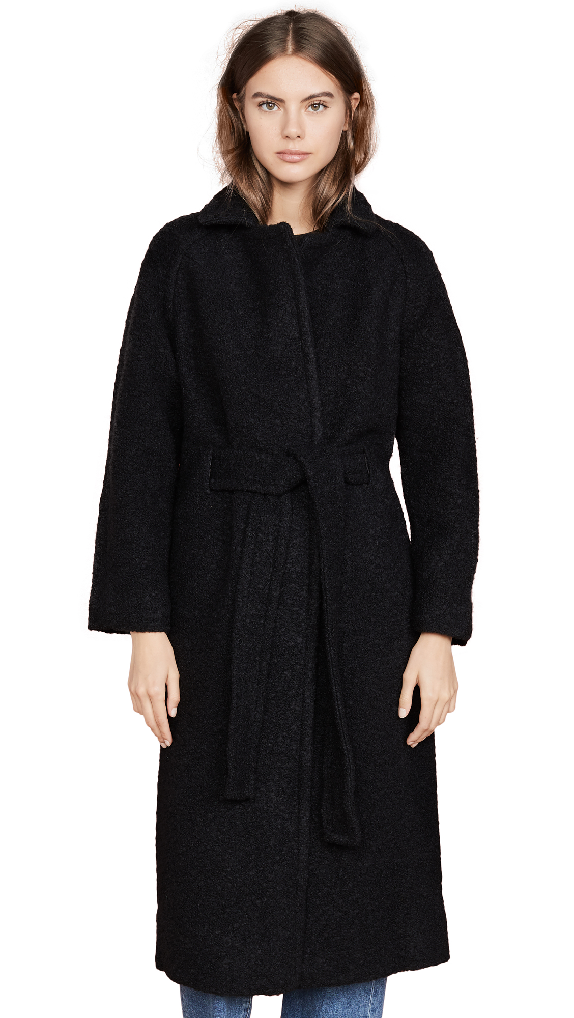 Buy GANNI online - photo of GANNI Boucle Wool Coat