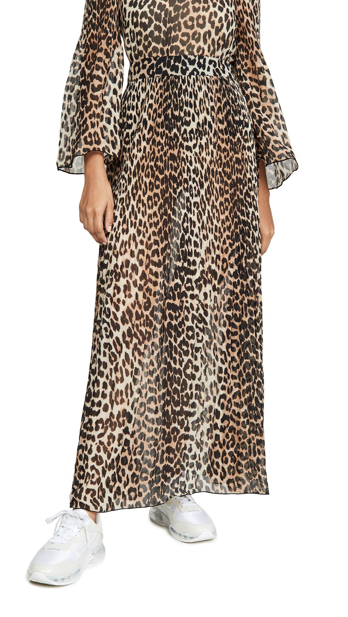 Buy GANNI online - photo of GANNI Pleated Georgette Skirt