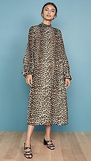 GANNI Платье из жоржета со складками
