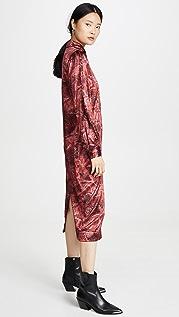 GANNI Шелковое платье из эластичного атласа