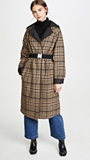 GANNI Tech/Wool Reversible Coat
