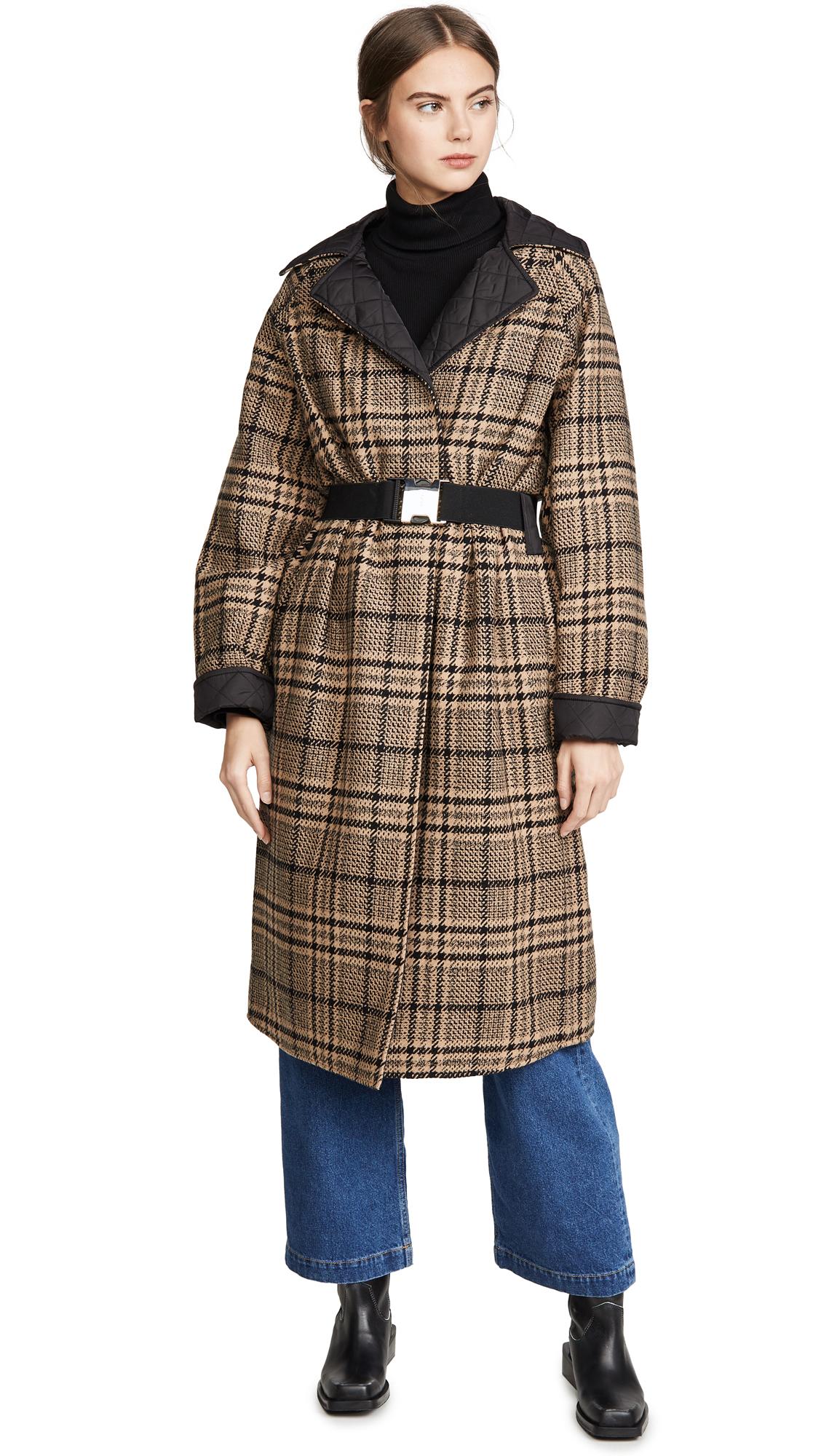 Buy GANNI online - photo of GANNI Tech/Wool Reversible Coat
