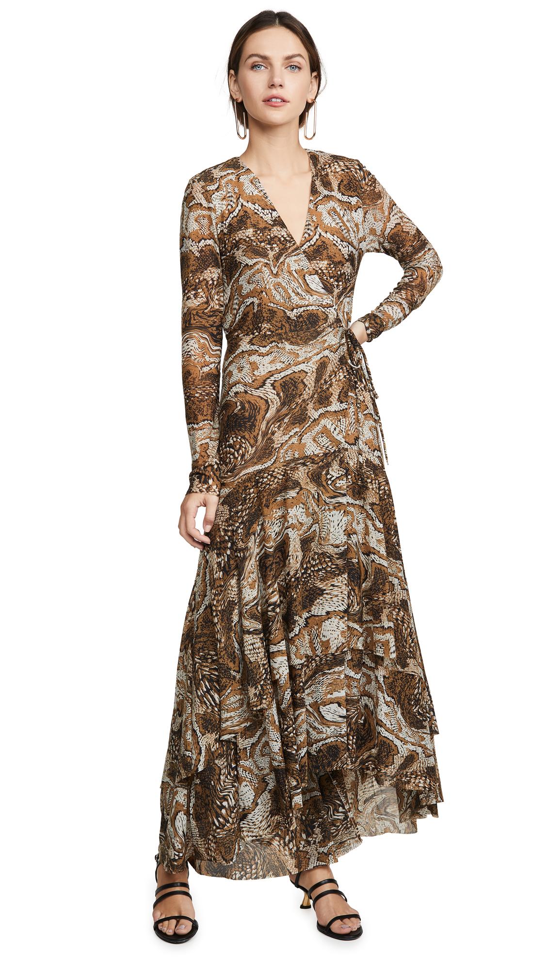 Buy GANNI online - photo of GANNI Printed Mesh Dress