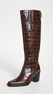 GANNI 西部风格及膝靴子