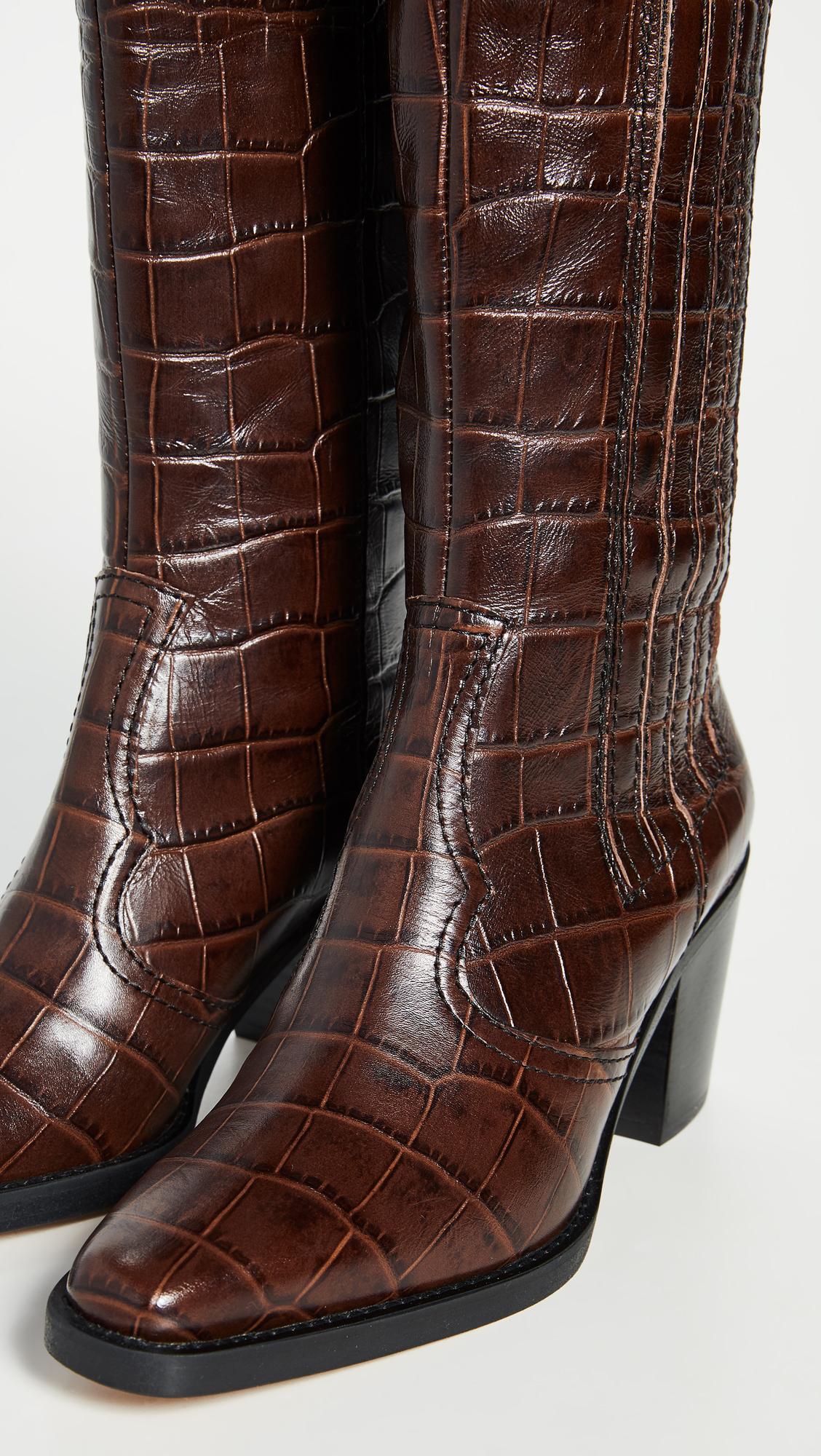 Ganni Western Knee High Boots Shopbop Sale On Sale Save