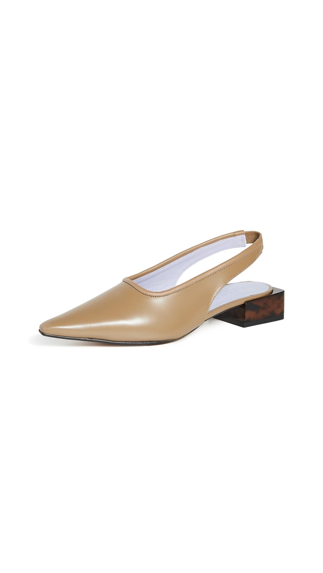 Buy GANNI Low Heel Slingback Flats online, shop GANNI