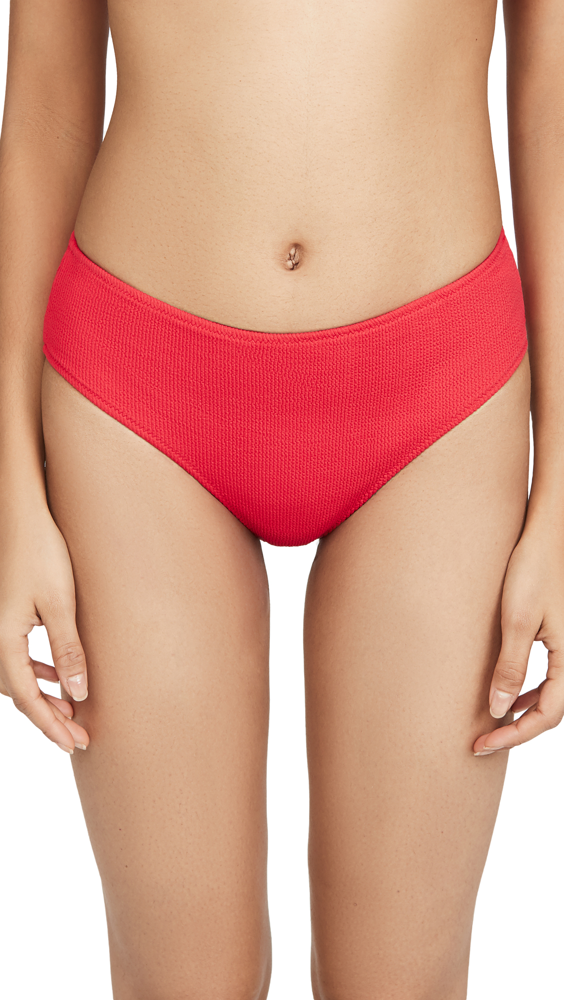 Buy GANNI online - photo of GANNI Textured Bikini Bottoms