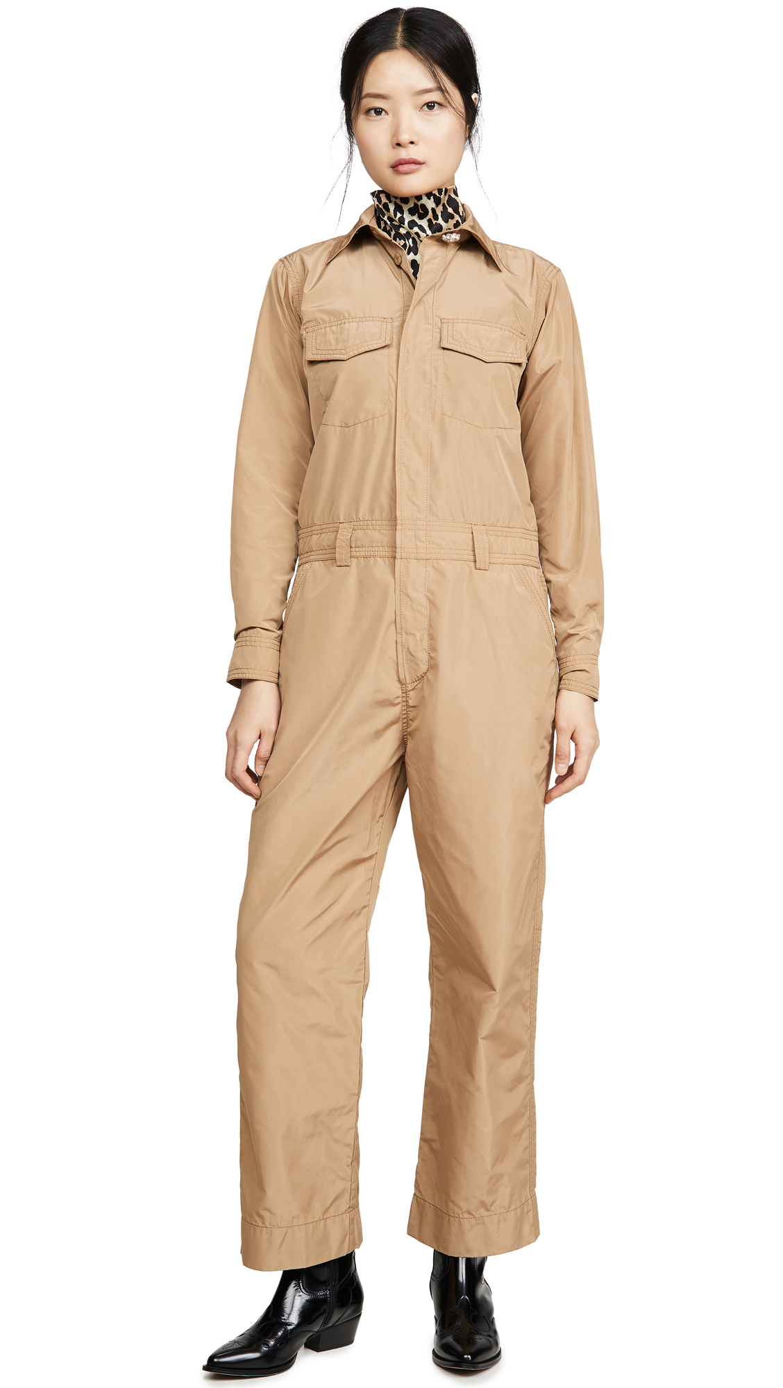 Buy GANNI online - photo of GANNI Recycled Polyester Jumpsuit