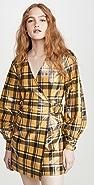 GANNI Coated Flannel Dress