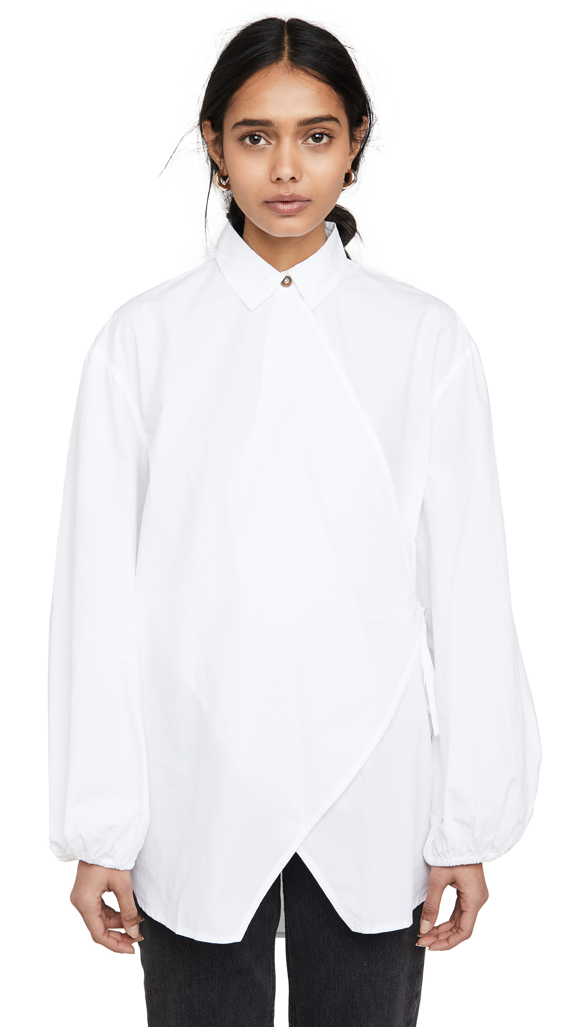 GANNI Cotton Poplin Blouse – 25% Off Sale