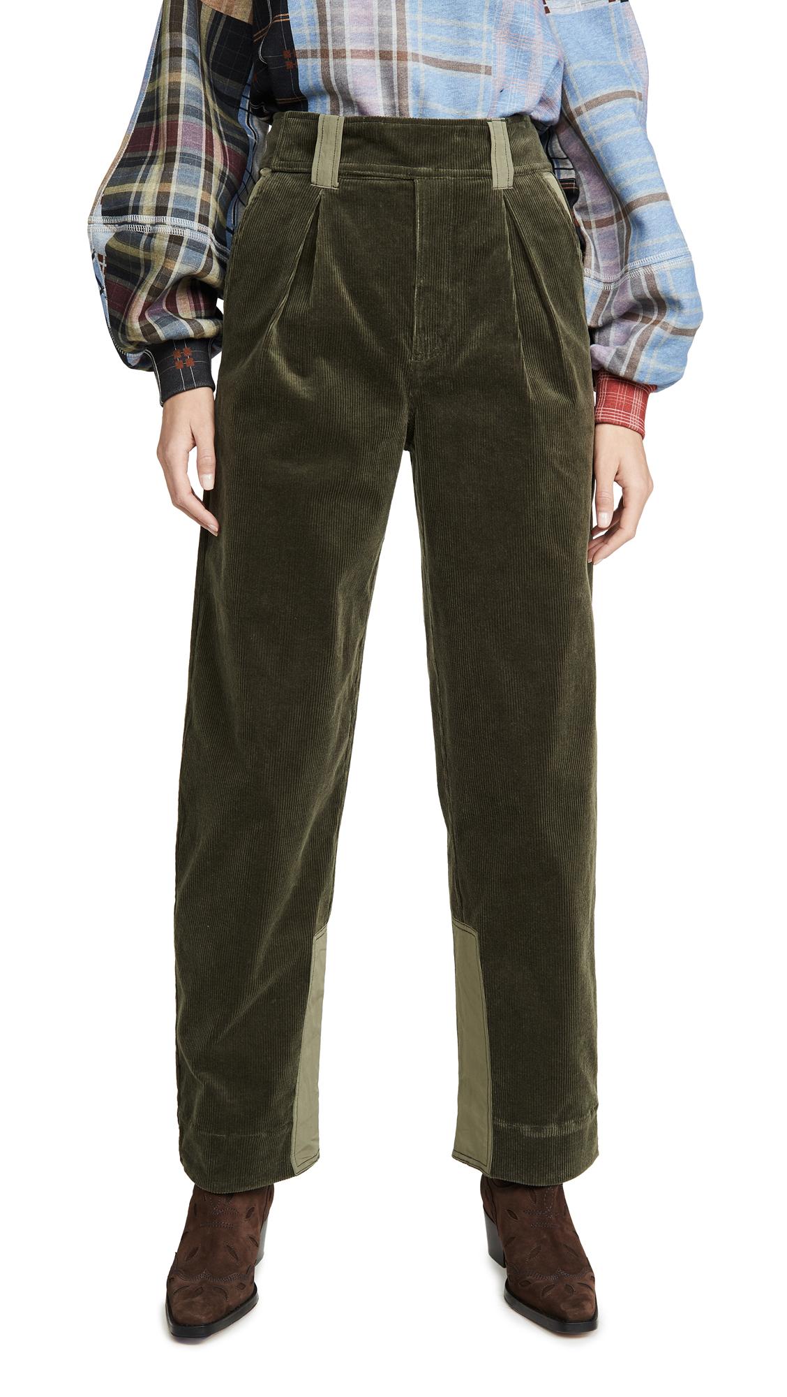 Buy GANNI online - photo of GANNI Stretch Corduroy Pants