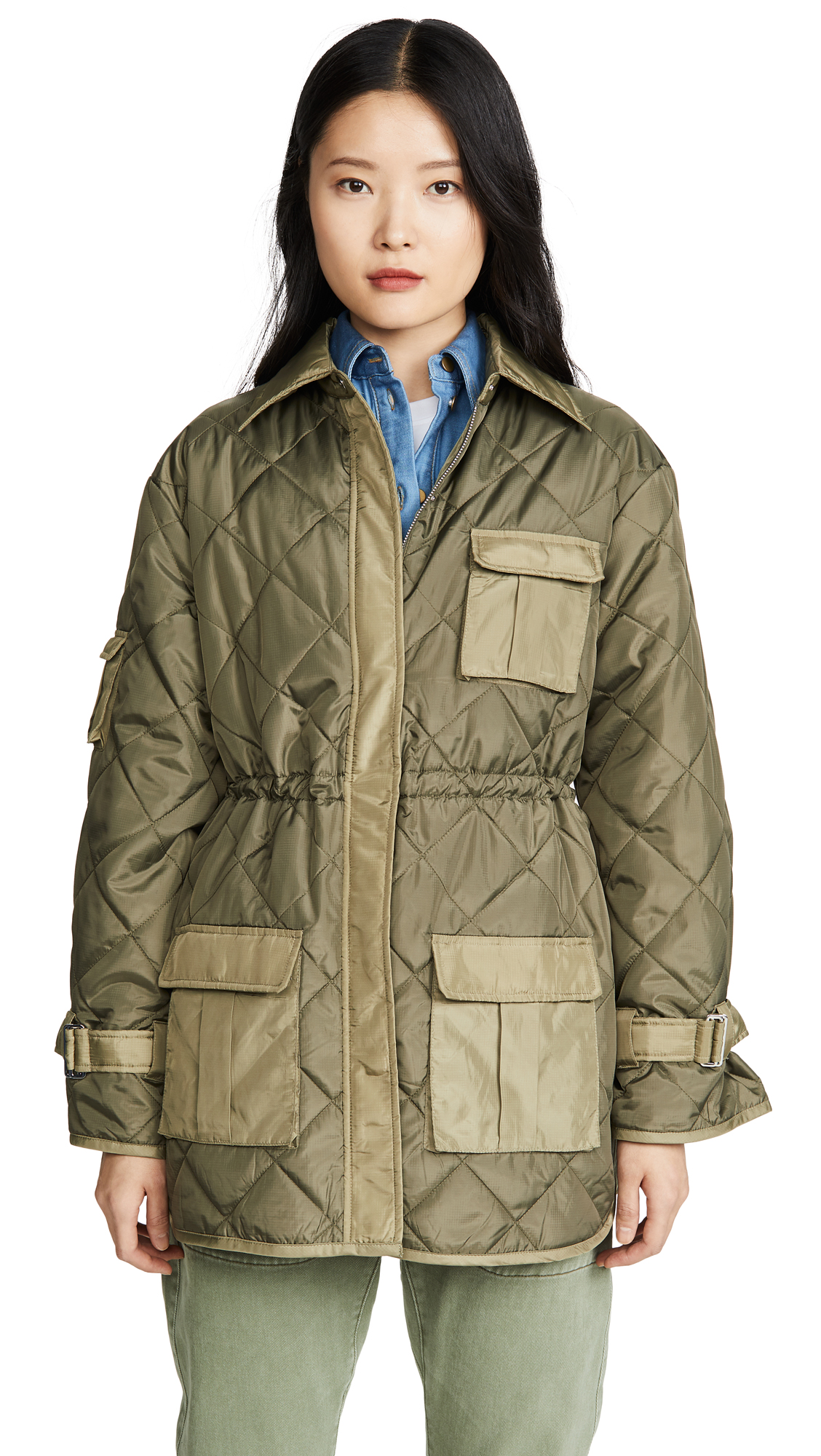 Buy GANNI online - photo of GANNI Ripstop Quilt Jacket