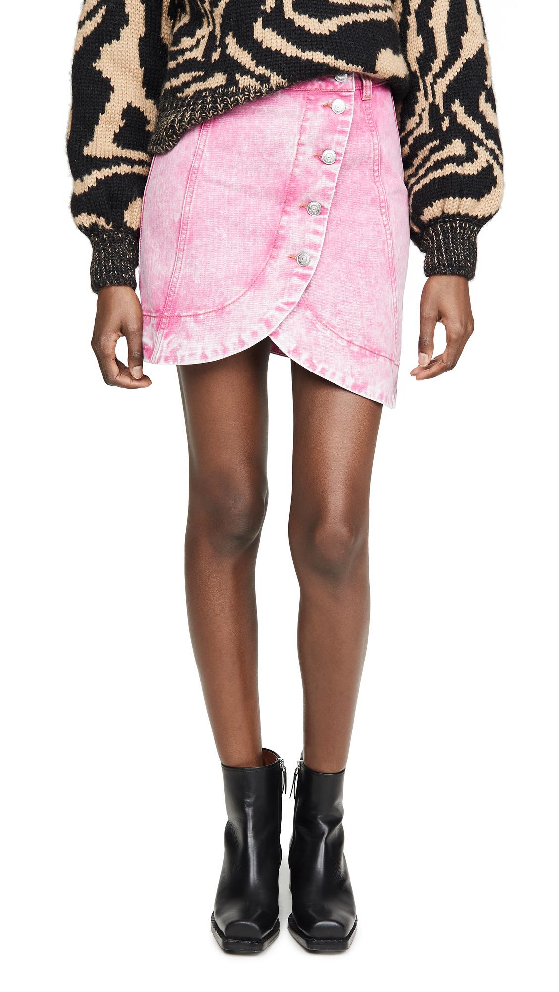 Buy GANNI online - photo of GANNI Washed Denim Skirt