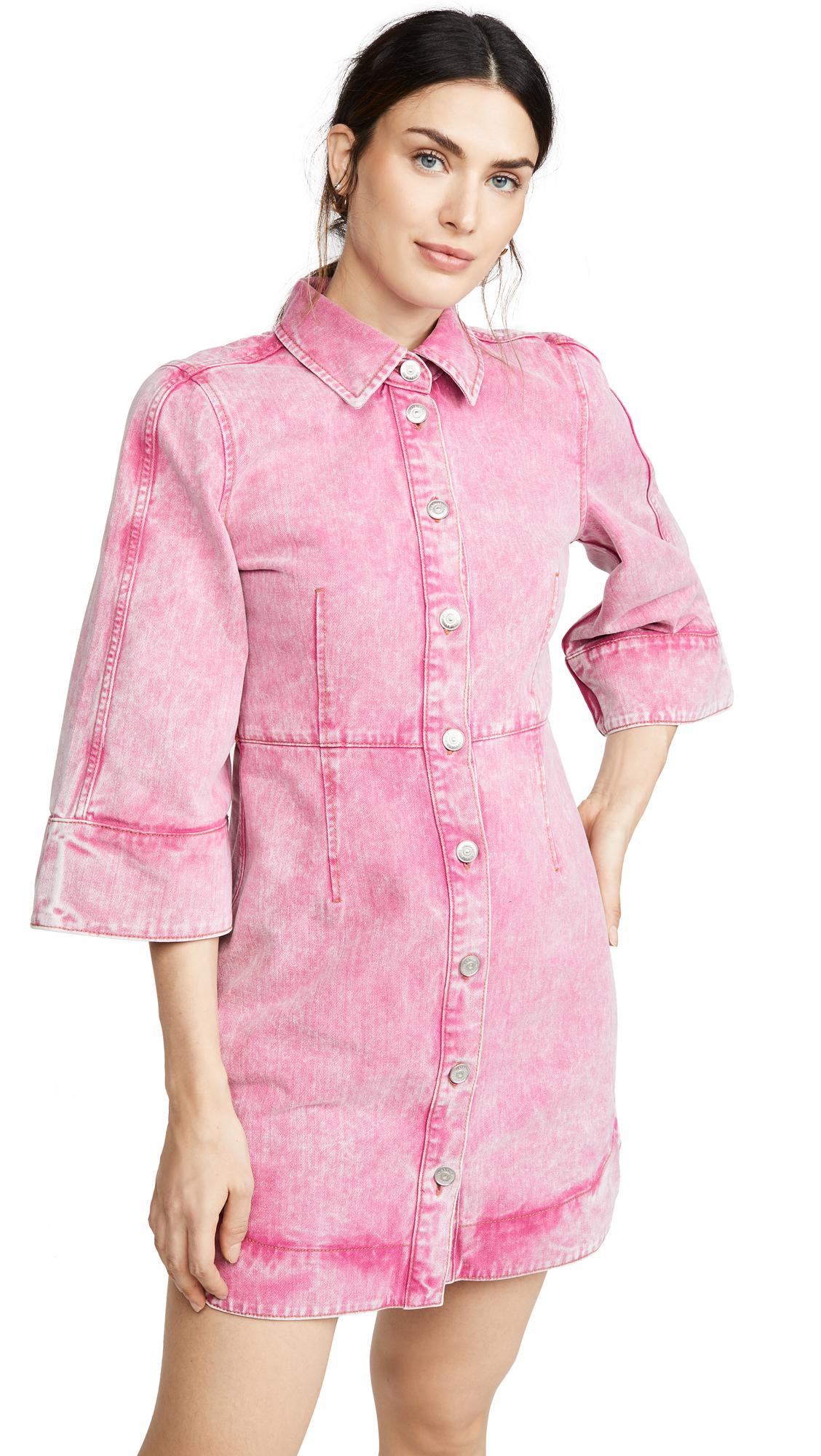 GANNI Washed Denim Dress - 55% Off Sale