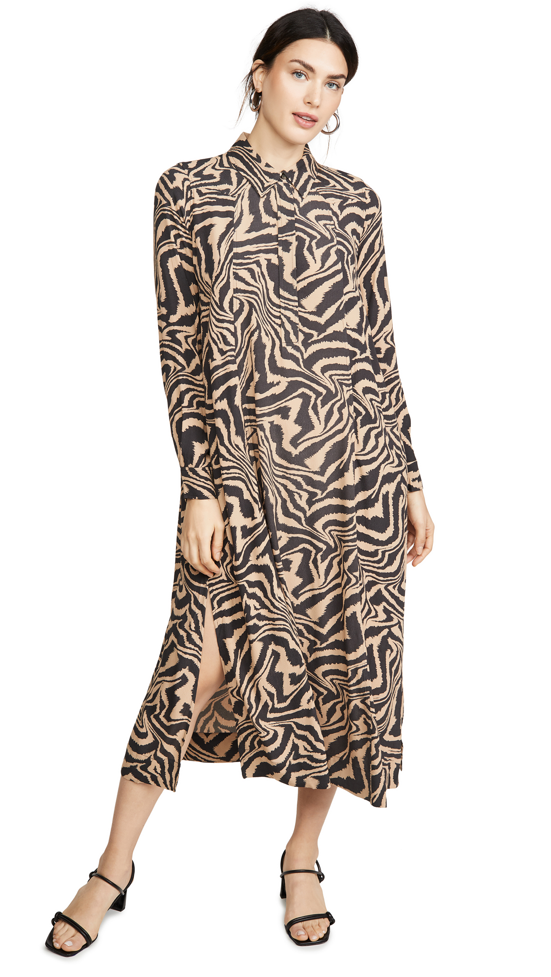 GANNI Printed Crepe Dress - 55% Off Sale