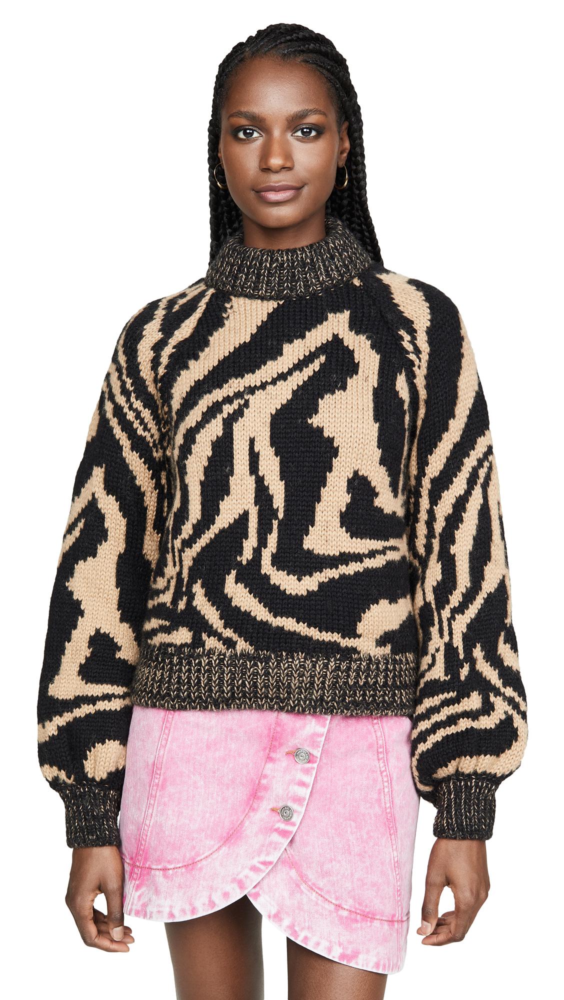 Buy GANNI online - photo of GANNI Hand Knit Wool Sweater